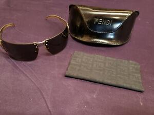 Used Original Authentic Fendi Women Sunglasses FS340 with Black Leather Case