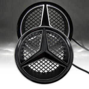 Black Illuminated Led Front Star Grille Emblem Light For Mercedes Benz 2006-2013