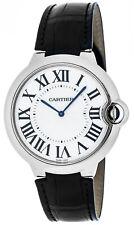 New Cartier Ballon Bleu 46mm XL 18k White Gold Auto Men's Leather Watch W6920055