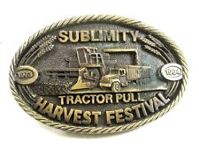 Sublimity Tractor Pull Harvest Festival Belt Buckle No. 20 of 500 22417