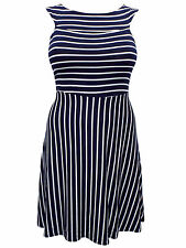 Everyday Knee Length Striped Dresses Plus Size for Women