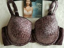 NEW M&S DD+ PERFECT FIT MEMORY FOAM  BALCONY T-SHIRT BRA 34F - MAHOGANY