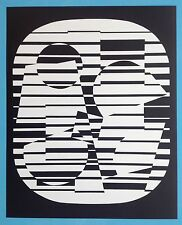 Victor VASARELY III Offset Originale 1973 Op Art Optique Cinétique