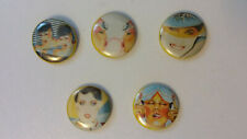Gerry the Cat 80's artist buttons set vintage SMALL BUTTON set 1