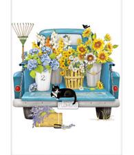 Mary Lake Thompson Single Bagged Flower Sack Towel 30 x 30 Blue Flower Truck