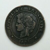 Dated : 1897 - France - Cinq Centimes - 5 Centimes Coin