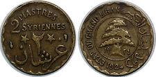 LIBAN LEBANON 2 PIASTRES 1924 KM#1