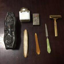 Vintage 7 Piece Shaving Kit- Valet Single Edge Razor~  plus Razor Case