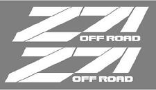 Z71 OFF ROAD Bedside Decals,  Chevy, Chevrolet, GMC, Pair, WHITE color