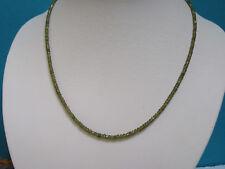 Edelsteinkette TSAVORIT grüne Granate facettiert, 45 cm SCHLIESSE 925 SILBER