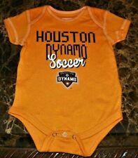 """NEW"" Houston Dynamo Soccer Club ~ LOGO Creeper BODYSUIT ~ MLS Boy's Sz 3M 6M"