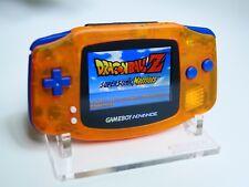 "Dragon Ball Z Custom Gba Backlit Rechargeable Mod Gameboy Advance ""DBZ EDITION"""