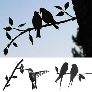 Home Ornament Art Iron Decor Bird Leaves Metal Wall Hanging Tree of Life Durable