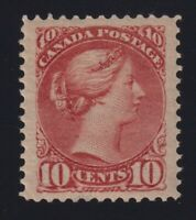 Canada Sc #45a (1890s) 10c dull rose Small Queen VF Mint