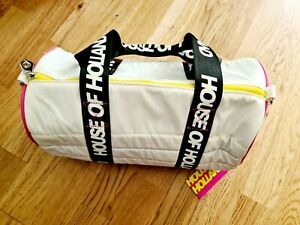 House Of Holland Bowling Style Bag ~ Handles And Strap ~ NEW ~ WHITE