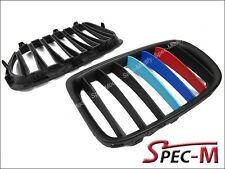 MATTE BLACK ABS for BMW E84 SUV X1 /// M Tri Front Grille Grill 2009-2014