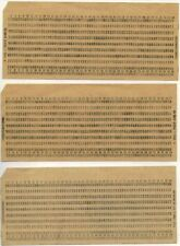 100 x OLD USSR Computer Mainframe Punch Cards. Like for IBM UNIVAC computers!