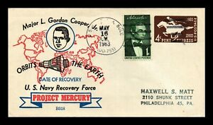 DR JIM STAMPS US PROJECT MERCURY NAVY RECOVERY SPACE EVENT COVER 1963