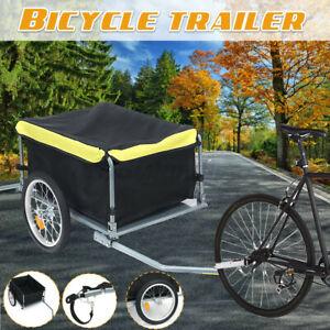 Bicycle Trailer Bike Cargo Steel Carrier Storage Cart Wheel Runner For Shopping