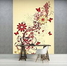 Nappes papier peint papiers peints photos papier peint papier peint rouge et or fleurs art 3fx1642vea