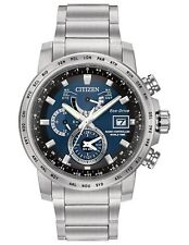 Citizen Men's Eco-Drive World Time AT Blue Dial Chronograph Watch AT9070-51L