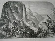 Gravure 1863 - Cascatelles de Tivoli