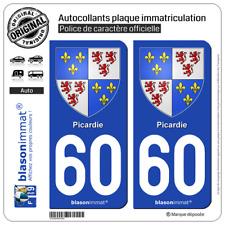 2 Blasonimmats plaque d'immatriculation | 60 Picardie - Armoiries