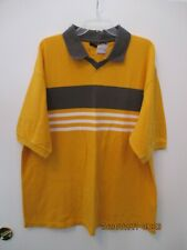 Men's Vintage Trails Yellow Cotton T-Shirt XL V-Neck Collar New with Tag