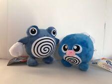 "2X Pokemon Poliwag Poliwhirl Plush Soft Toy Doll Teddy 6"""