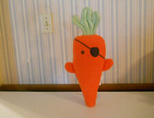 """Carrot of The Caribbean Pirate plush 18"""" tall pillow toy BBs for Babies     X3"""