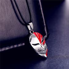 Anime Bleach Ichigo Kurosaki Mask Pendant Cosplay Necklace Metal Toy