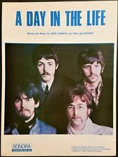 """** BEATLES ** ORIGINAL 1967 SHEET MUSIC """"A DAY IN THE LIFE"""" Excellent condition"""