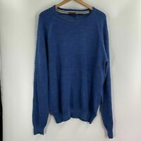 Weatherproof Vintage Mens Blue Crew Neck Pullover Sweater Size L XL