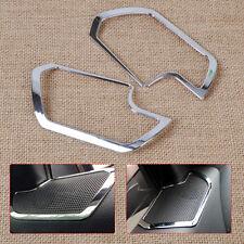 2pcs Car Interior Speaker Chrome Molding Cover Trim for Kia Sportage R 2011-2015