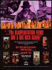 BLAXPLOITATION FILMS__Orig. 1995 Trade print AD / promo__SHAFT_BIG SCORE_AFRICA