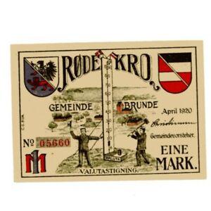 Brunde Rothenkrug ( Rodekro, Denmark )  Notgeld  1 Mark AC383