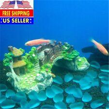 Aquarium Fish Tank Vintage Decorative Bridge Tree Plants Design Pet Supplies