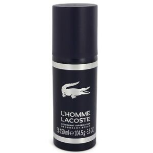 L'HOMME LACOSTE * 3.6 oz (150 ml) Deodorant Spray * NEW & Unboxed