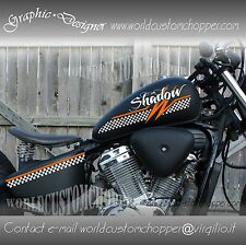 2 KIT GRAFICA ADESIVA DECAL STICKERS  HONDA SHADOW  VT 600 CUSTOM SCACCHIERA