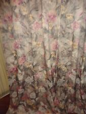 CROSCILL JACQUARD DAMASK PINK GREEN GOLD FLORAL SHOWER CURTAIN 70 X 72
