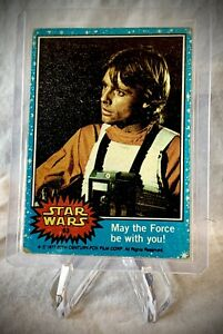 1977 STAR WARS - May The Force Be With You - Topps Series 1 (Blue) Card #63