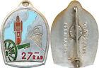 27° Régiment d'Artillerie Divisionnaire, petite pastille gravée, D.Ber.Dep. (1)