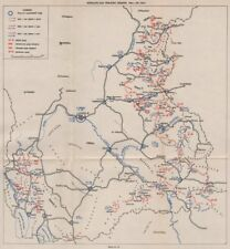 MACEDONIA. 7th Axis(Spring)Offensive May-Jun 1944.Kicevo Vranje Kratovo 1957 map