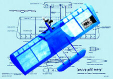 Model Airplane Plans 1/2A Control Combat Gollygeewhiz Full Size Printed Plans