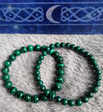 genuine malachite crystal healing 6mm or 8 mm or 10mm bead bracelet