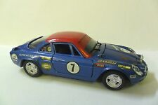 POLISTIL 1:25 AUTO DIE CAST CAR ALPINE-RENAULT 1600S #7 BLU E ROSSA  ART S21