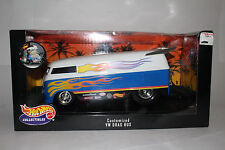 HOT WHEELS DIECAST 1:18 SCALE, CUSTOMIZED VOLKSWAGEN VW DRAG BUS, BOXED