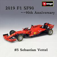 BBURAGO 1:18 Scale 2019 F1 Ferrari SF90 #5 Sebastian Vettel Diecast Model Car