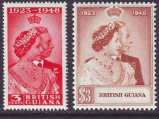 British Guiana 1948 SC 244-245 MH Set Silver Wedding