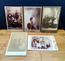 Antique Rudd Lien Lee Miller Harvey CABINET CARD Collection Qty. 5 B&W Portraits